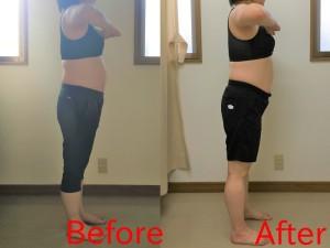 Aさん 骨盤ダイエット1ヶ月